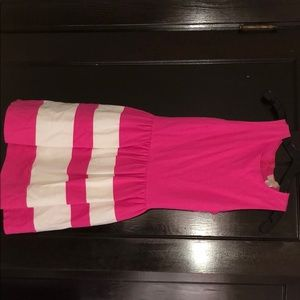 Pink and white stripe dress, love...ady, size S